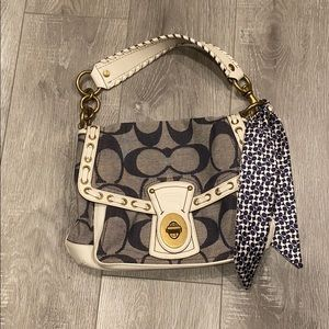 Coach Legacy Signature Ali Denim Purse